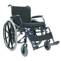 Invalidní vozík SOMA SM-802 WB +brzdy, hliníkový šíře 49cm