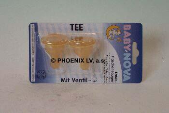 BABY NOVA Savička latex kulatá na čaj 2ks 14301