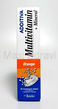 Additiva multivit. + minerál tbl.eff.20 pomeranč