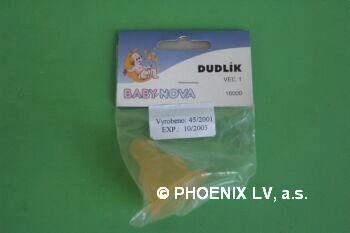 BABY NOVA Savička latexová tvarovaná č.1 16000