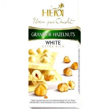 Čokoláda HEIDI Grand´Or White&Hazelnuts 100g