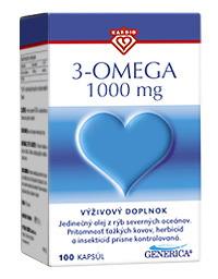 3-omega 1000 100 kapslí Generica