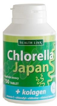 Chlorella Japan + kolagen 750 tablet
