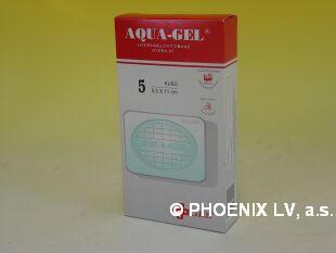 Aqua gel hydrogelový obvaz sterilní ovál 55x110mm/5ks