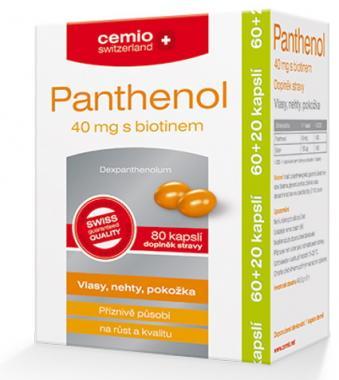 Cemio Panthenol 40mg s biotinem 60 kapslí + 20