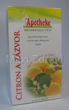 Apotheke Citron + zázvor s lípou čaj 20x2g n.s.