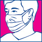 Foliodress Mask Loop Comfort modrá 50ks